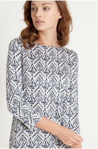 Sweter w etniczny wzór
