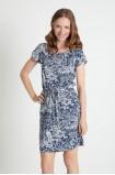Viskózová šaty s dekorativním potiskem