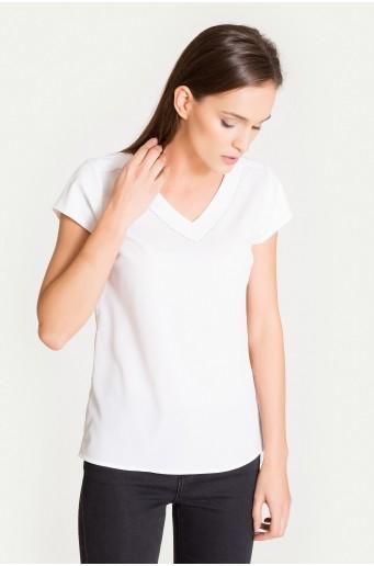 Elegancka bluzka z ozdobnym ażurem