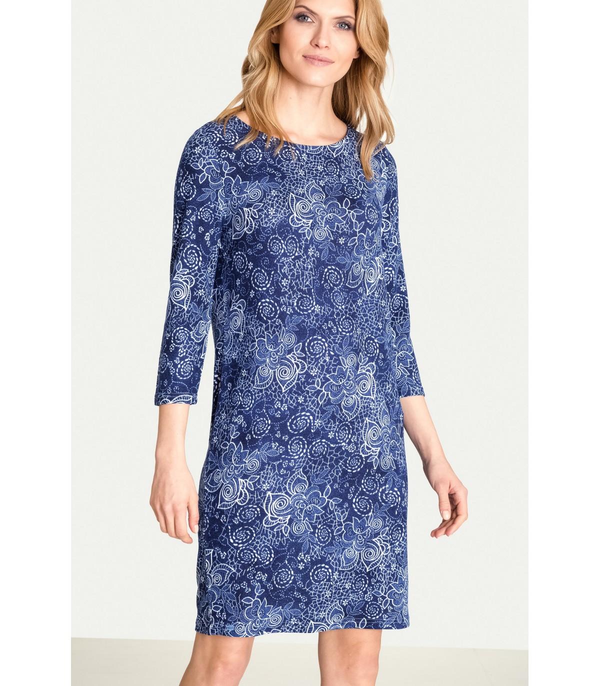 03cda00505d1 Jednoduché pletené šaty - 6025 - Grenpointfashion