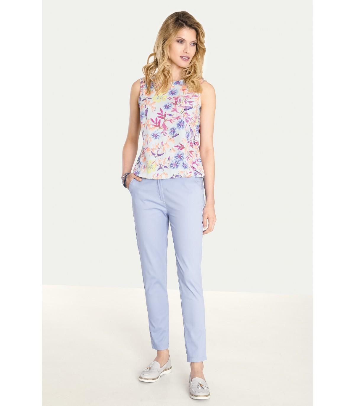 ba7ba385ada1 Klasické bavlněné kalhoty - 6547 - Grenpointfashion