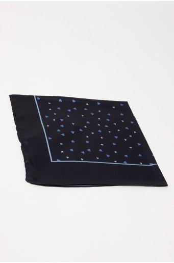 Čierna malá šatka s potlačou