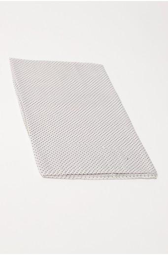 Bílý šátek s puntíky