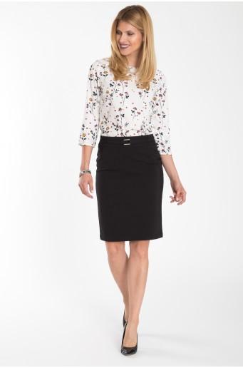 Elegantní pouzdrová sukně černé barvy