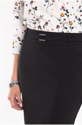 Čierna elegantná ceruzková sukňa