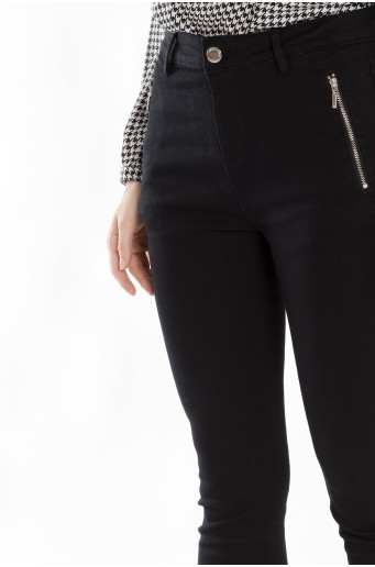 Klasické nohavice s vreckami na zips