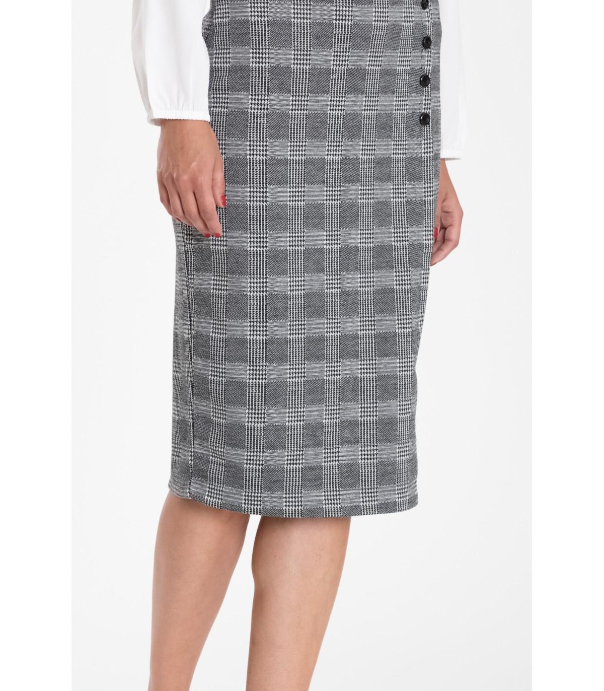 2ec3f0cd25eb Kostkovaná pouzdrová sukně