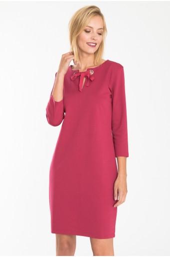 Ružové elegantné pletené šaty