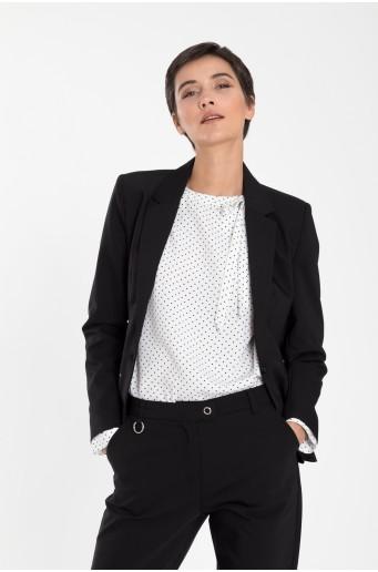 Klasický černý kabát