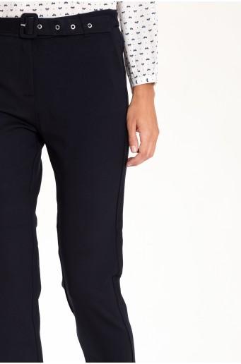 Tmavomodré nohavice s opaskom