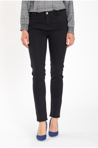 Čierne nohavice z denimu