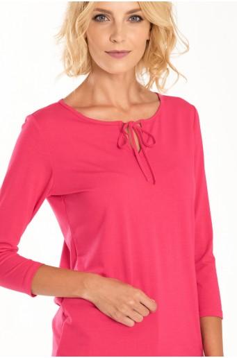 Ružový top s ozdobným viazaním