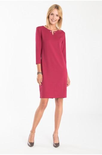 Elegantné ružové pletené šaty