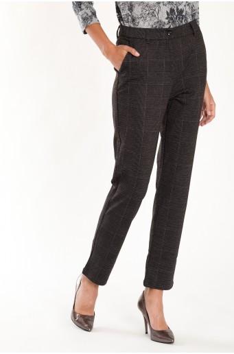 Elegantné kockované nohavice