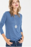 Modrý svetr se šňůrkou