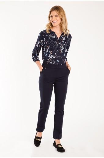Elegantní kalhoty s vyšším pasem
