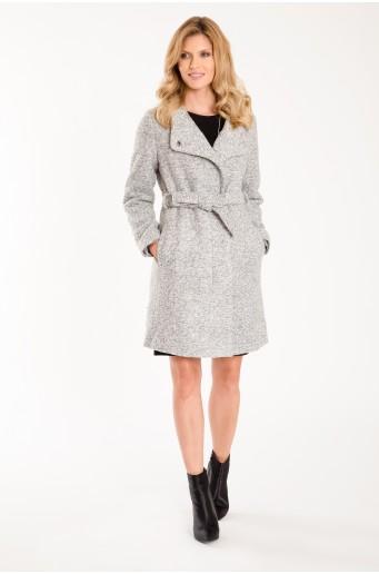 Elegantní kabát s páskem