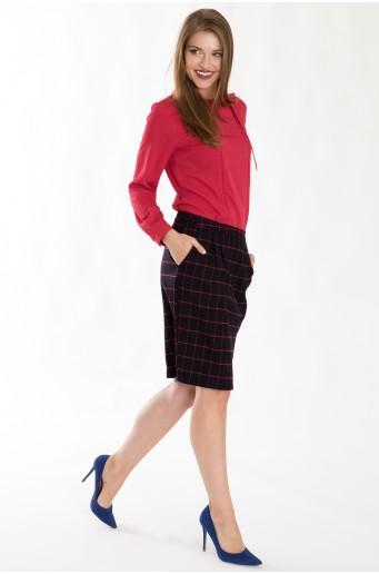 Pouzdrová sukně s kostkovaným vzorem