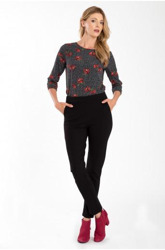 Elegantní kalhoty s vysokým pasem