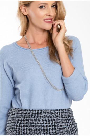 Světle modrý teplý svetr