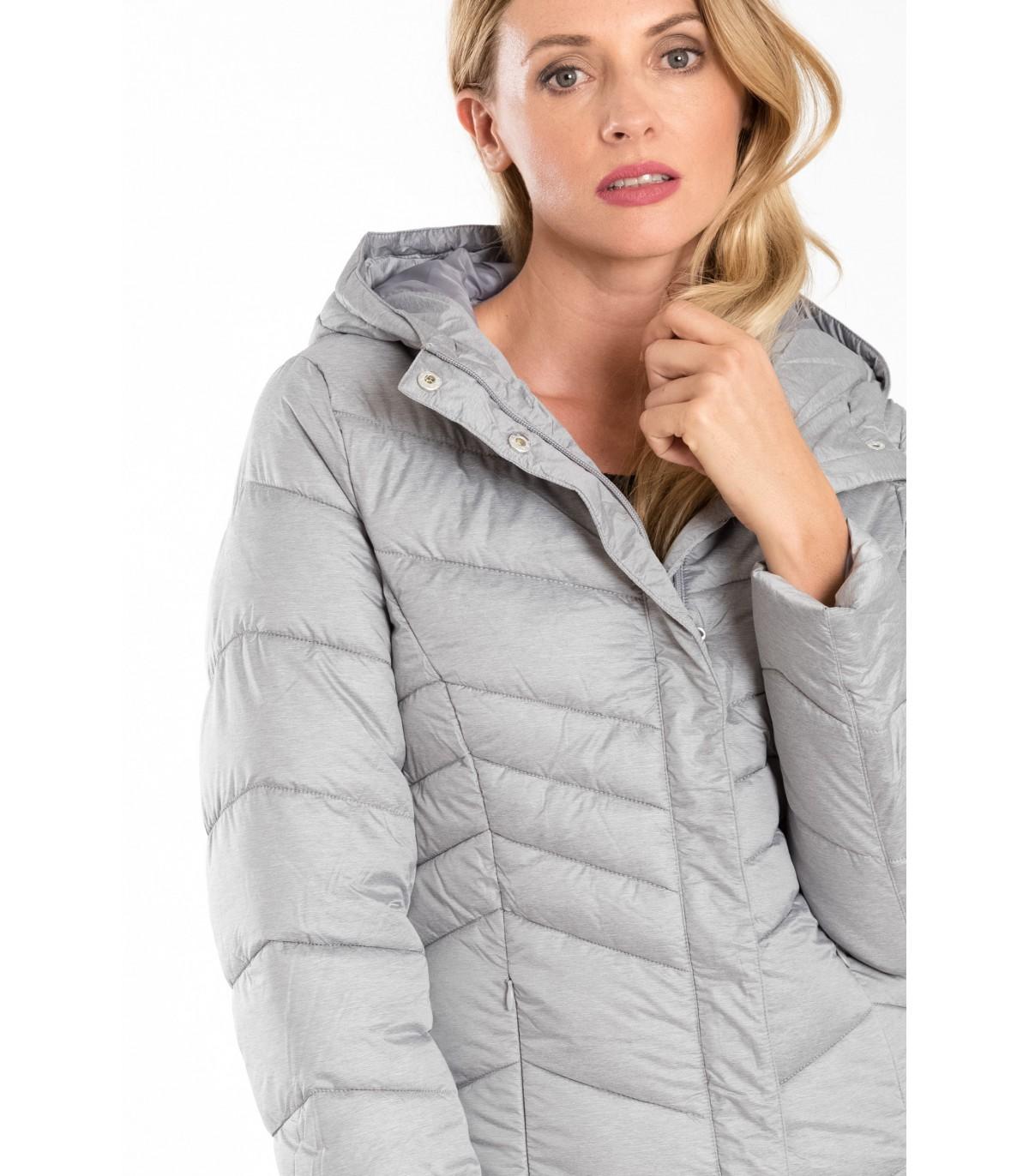 371a923527 Prošívaný kabát s kapucí