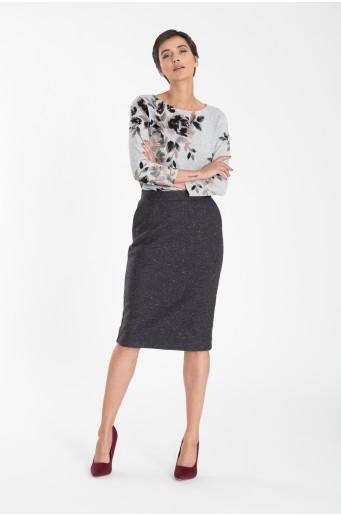 Pouzdrová sukně z vysokým pasem