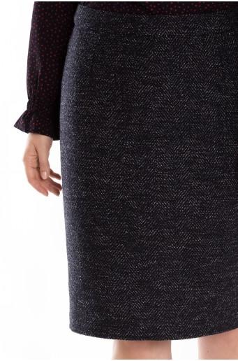 Teplá pouzdrová sukně
