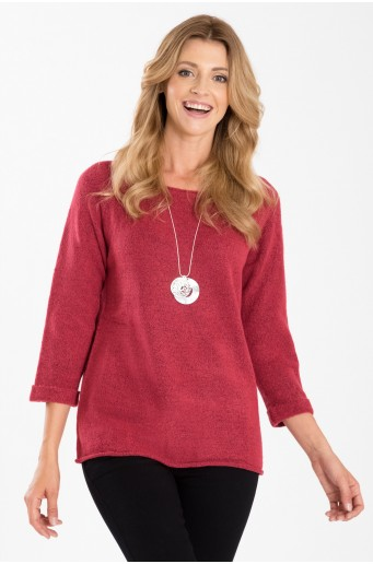 Teplý růžový svetr