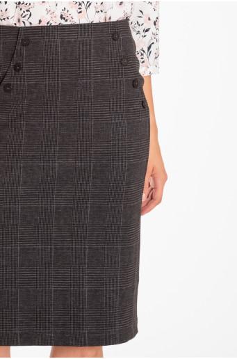 Pouzdrová sukně s ozdobnými knoflíky