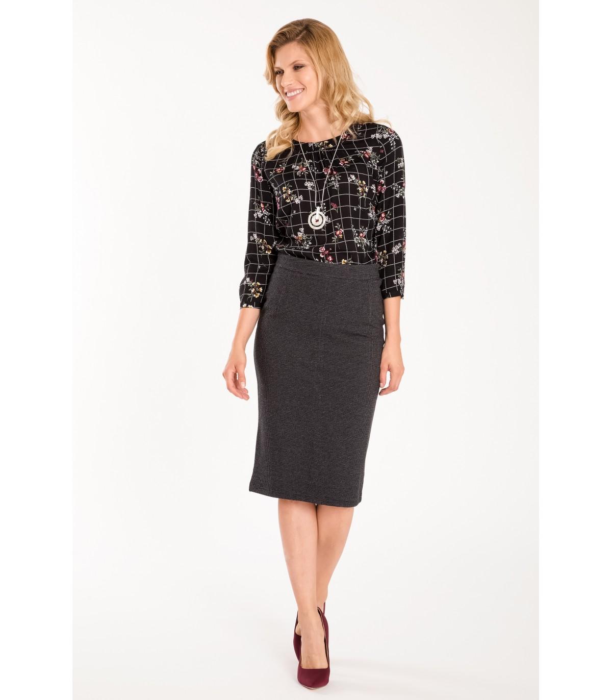 Pouzdrová sukně s vysokým pasem 47ab4c4024