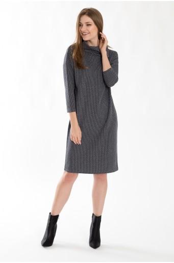 Rolákové šaty z úpletu
