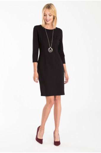 Padnoucí černé šaty z úpletu