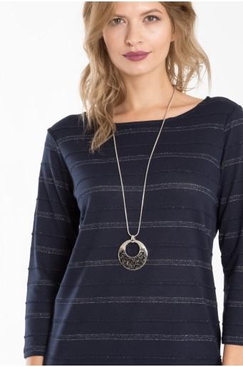 Proužkovaný svetr s třpytivou nití