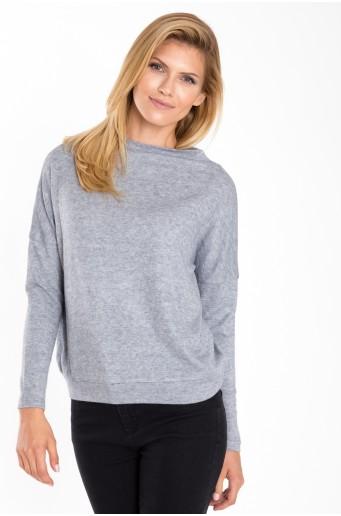 Šedý svetr se stojáčkem