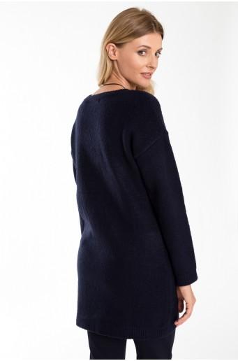 Černá svetrová tunika
