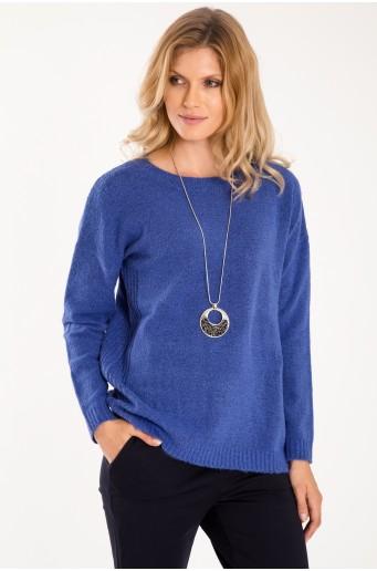 Volný svetr s ozdobnými stahujícími šňůrkami