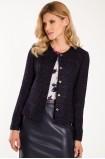 Elegantní sako s lesklou nití