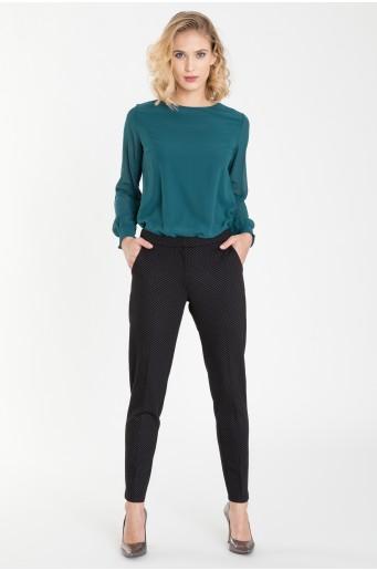 Klasické kalhoty s jemným potiskem