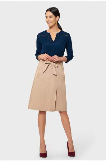 A-line skirt with belt
