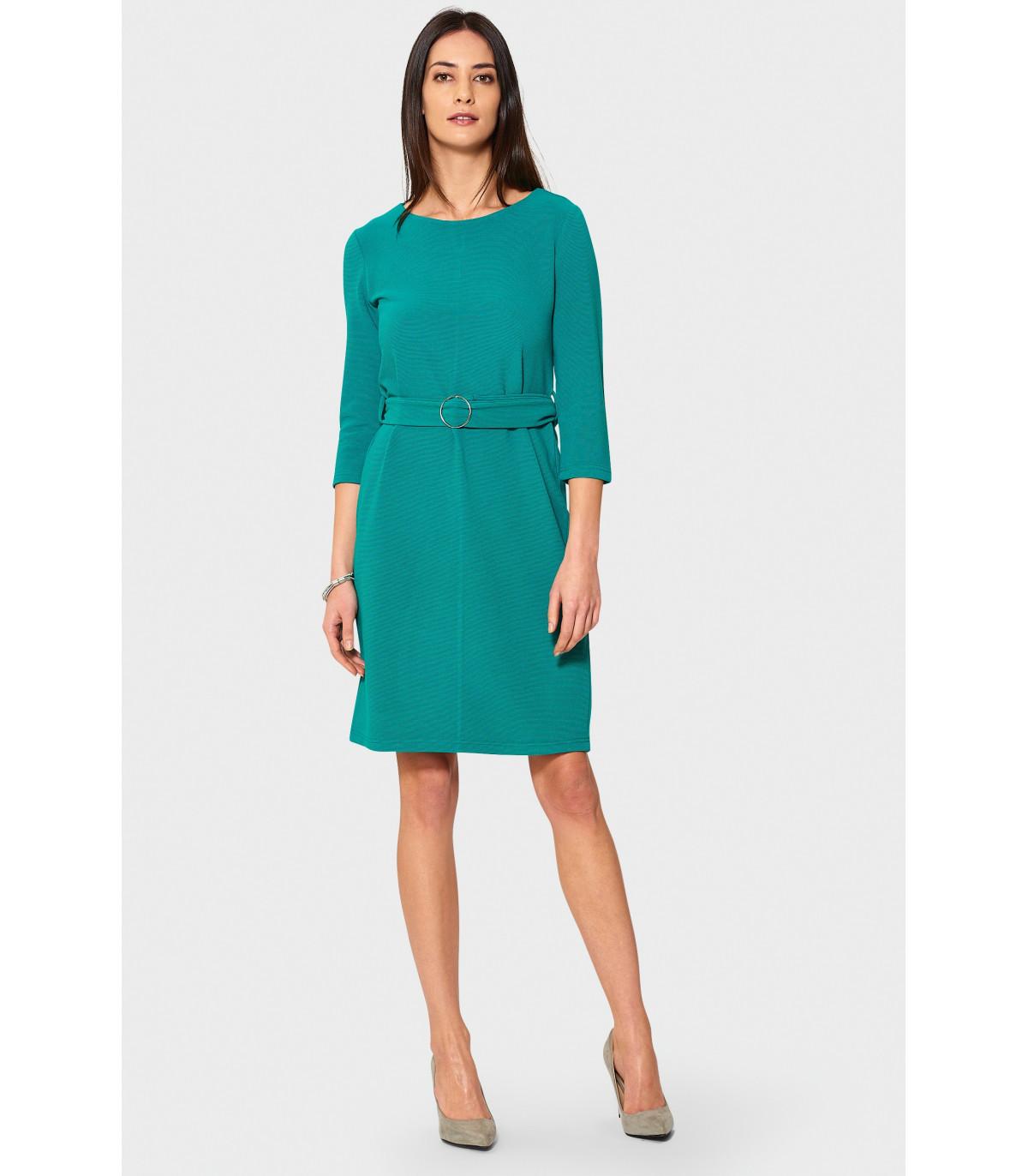 86001d7d30b4 Zelené elegantné šaty s opaskom