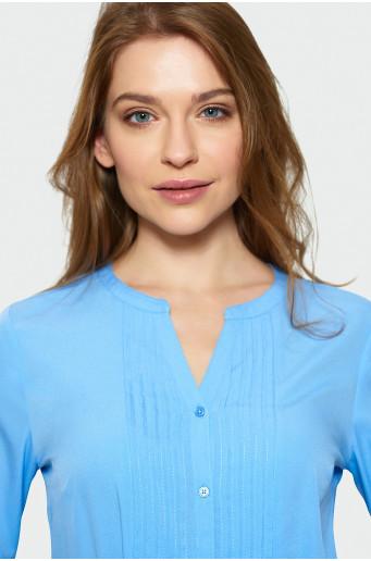 Elegantná modrá blúzka