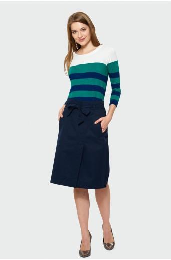 Tmavě modrá sukně s páskem