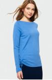Modrý sveter s dlhým rukávom