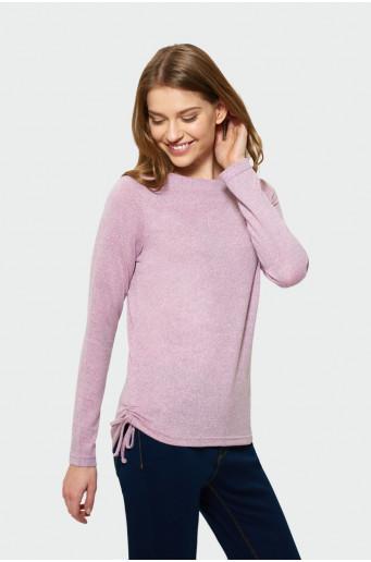 Ružový sveter s dlhým rukávom