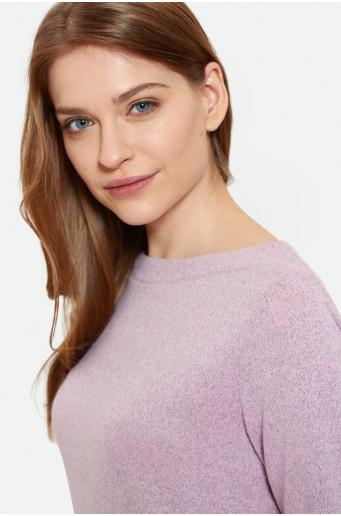 Růžový svetr s dlouhým rukávem