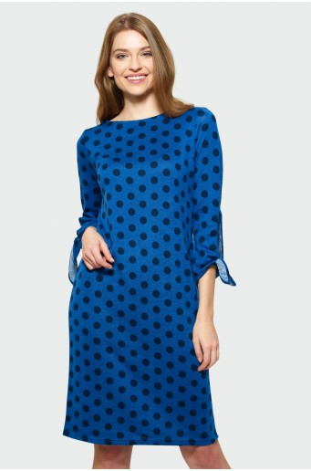 Gauzy dress with ¾ sleeves