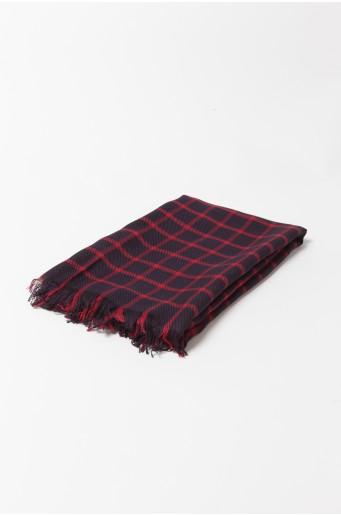 Checked viscose shawl