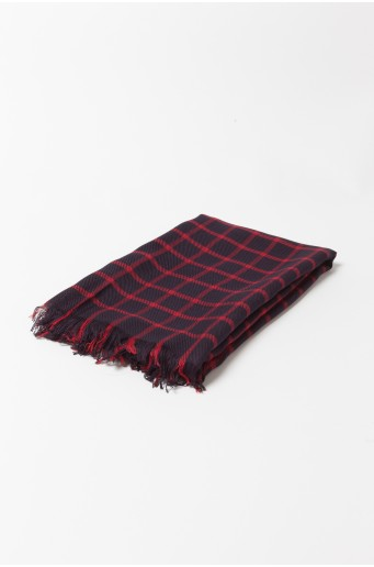 Viskózový károvaný šál