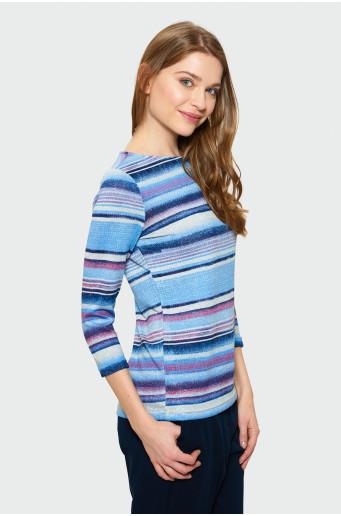 Klasický sveter s potlačou
