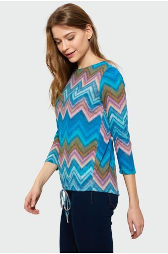 Volný svetr se šňůrkou